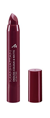 Manhattan Endless Colour & Matte Lip Butter - Lippenstift mit langanhaltendem Matt-Effekt in Weinrot - Farbe Wine O Clock 960 - 1 x 3g