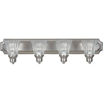 Sunset Lighting F3574-53 Vanity with Prismatic Clear Glass, Satin Nickel Finish by Sunset Lighting - Clear Prismatic Glass
