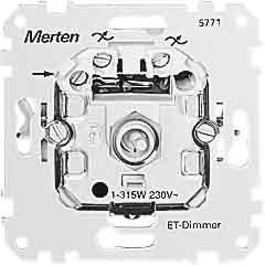 Merten 577199 ET-Dimmer-Einsatz für kapazitive Last, 20-315 W von Merten auf Lampenhans.de