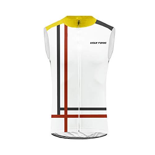 Uglyfrog Bike Wear Racing Uomo Gilet Classico Abbigliamento Ciclismo Top Sportivo per Bicicletta Maglia Senza Maniche Mantieni Fresco HI2019VJ08