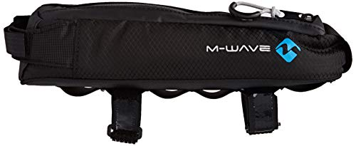 M-Wave BP Bolsa Tubo Superior Bicicleta Rough Ride Top, Adultos Unisex, Negro