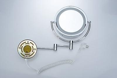 ZNL Kosmetikspiegel Schminkspiegel mit LED Beleuchtung 10-fach ROHS Rund YBL9100 von Znl - Spiegel Online Shop