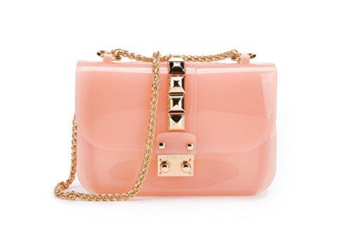 Maod Modisch klein handtaschen Lackleder umhängetasche damen transparente schultertasche mädchen damentaschen lässig