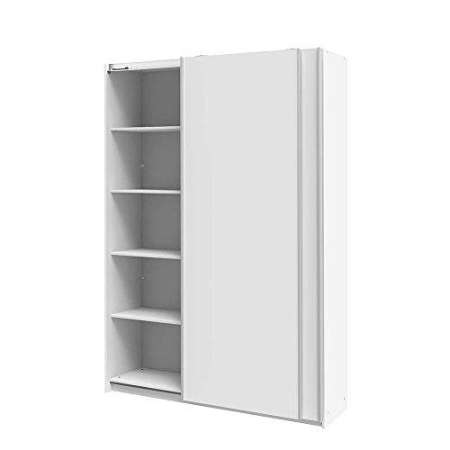 Büroschrank weiß  Büroschrank mit Schiebetüren - Praktisch zum öffnen und schliessen !