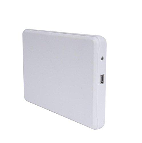 carcasa para Discos duros externos 1tb baratos pequeños USB3.0 Sannysis External Hard Drives discos duros portatiles multimedia FUNDA para windows 98/2000/XP/Vista/Windows7 (Blanco)