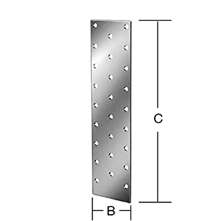 VORMANN Lochplatte 60 x 200 x 2mm verzinkt