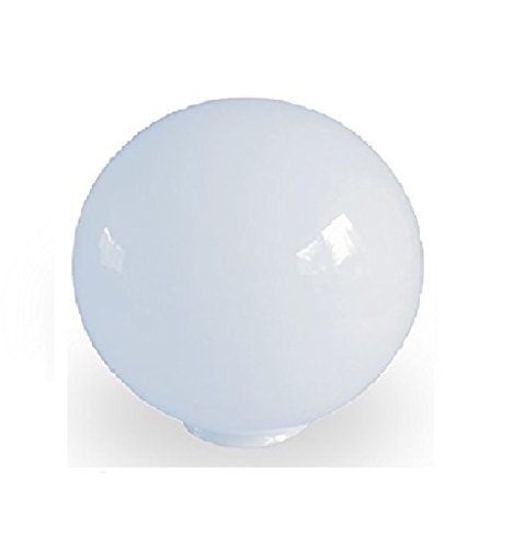 15.0cm Durchmesser Weiß Glas  Ersatz Kugel Lampenschirme. Kreisumfang: 47cm,  Hals (Außenbreite): 6.6cm Durchmesser,  Loch: 6.1cm Durchmesser.