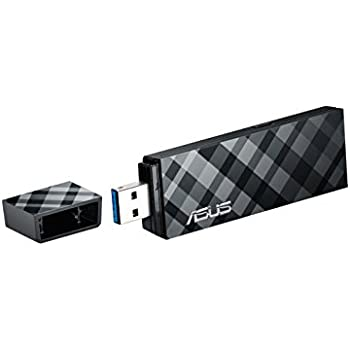 Asus USB-N53 B1 N600 Dual-Band Wi-Fi USB Stick schwarz/silber (802.11 a/b/g/n, USB 3.0, Windows kompatibel, 2x Antennen)