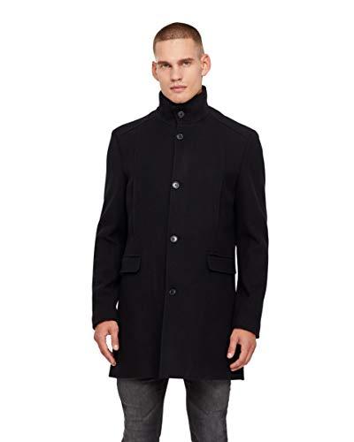SELECTED HOMME Herren Mantel SLHMOSTO Wool Coat B NOOS, Schwarz (Black Detail:Twill), Large