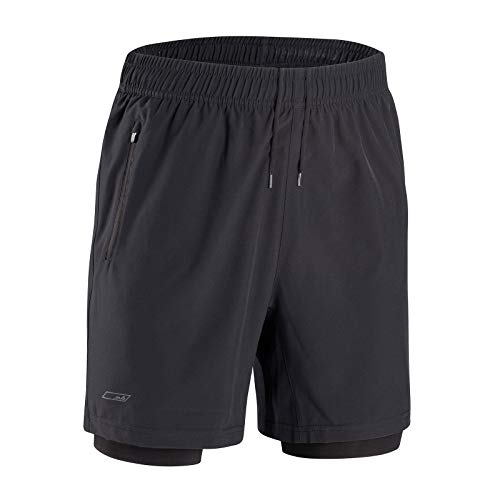 Sub Sports CORE Herren 2 in 1 Shorts - Schwarz - L