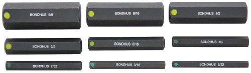Bondhus 332995/32-5/8Zoll 2Zoll Stecknuss ProHold Bits ohne Sockets, Set 9
