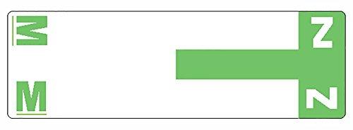 Smead AlphaZ NCC color-coded etiquetas, a y n, etiqueta hoja, rojo, 100por paquete, color verde claro