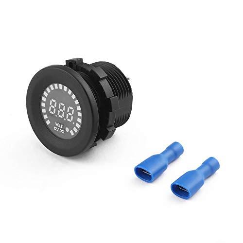CHOULI Waterproof LED Digital Panel Display Voltmeter Voltage Volt for Car Motorcycle Black Panel-mount-voltmeter