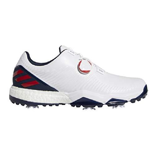 adidas Adipower 4orged Boa, Scarpe da Golf Uomo, Bianco (Blanco/Azul/Rojo F34186), 44 2/3 EU