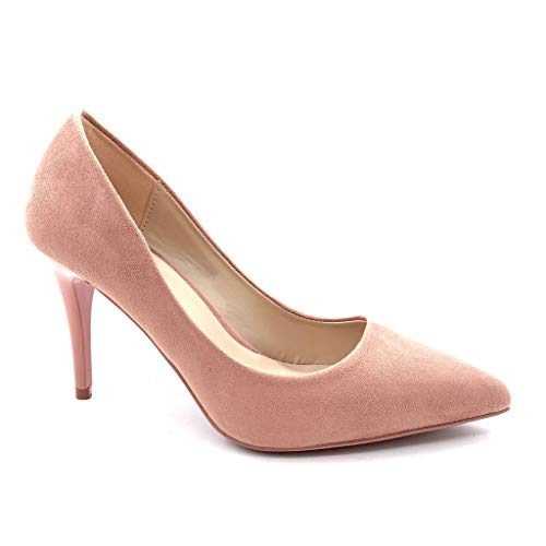 Angkorly - Damen Schuhe Pumpe - Stiletto - Abend - Sexy - Basic Stiletto high Heel 8.5 cm - Rosa B-79 T 40