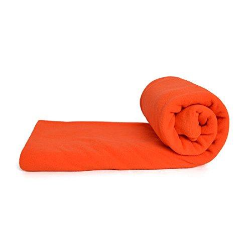 Grofitness caldo pile per sacco a pelo Portable Sleep bag impermeabile antivento busta cuscino tappetino con testa copertura per campeggio, trekking, arrampicata e zaino, Orange