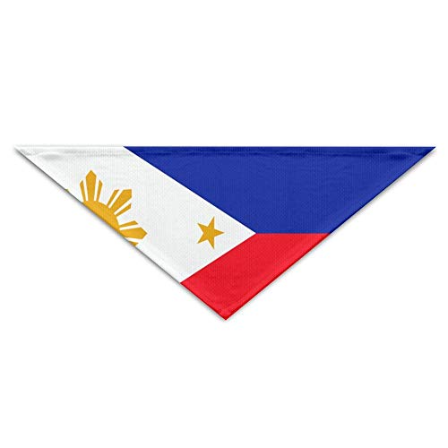 BigHappyShop Philippines Flag Pet Scarf Dog Neckerchief Puppy Triangle Triangle Bibs Scarfs for Pet ()