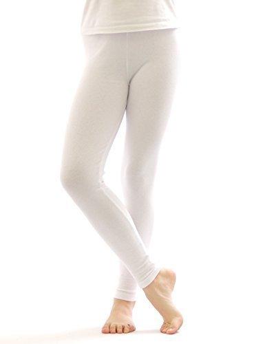 Térmica leotardos leggins pantalones algodón largo polar cálido grueso suave blanco XL