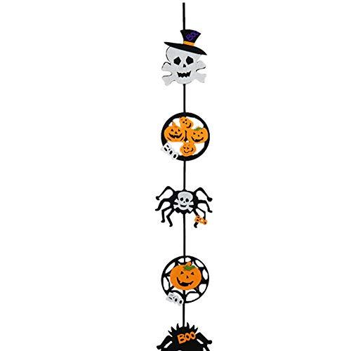 Halloween Hanging Tag Kürbis-Geist-Dekoration für Haus-Tür-Fenster Bar Einkaufszentrums Firmen Partei Fünf Reihe 1pcs