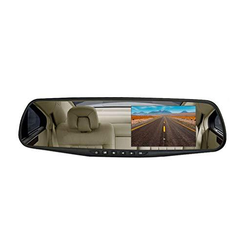 Tensay 4,3 Zoll HD Doppelobjektiv Auto DVR Dash Cam Vorder- und Rückspiegel Kamera Video Recorder Doppel Rekord für Auto Anhänger LKW