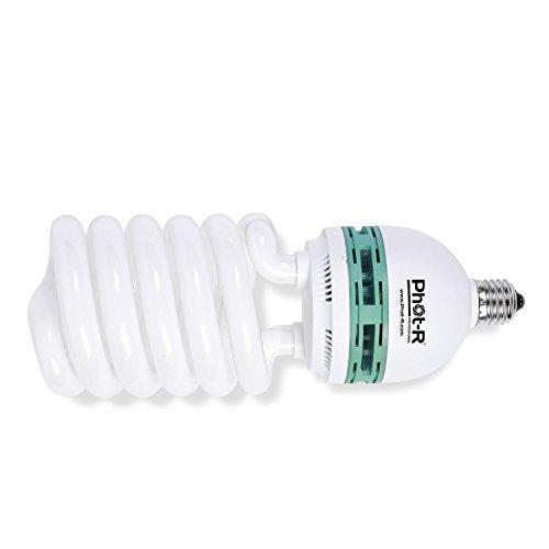 Phot-R 150W (150 W), 220V, 5500K, E27-Sockel,spiralförmige, durchgehende, tageslichttaugliche, fluoreszierende CFL-Energiesparlampen für die Foto-, Video-, Studiobeleuchtung in der professionellen Fotografie