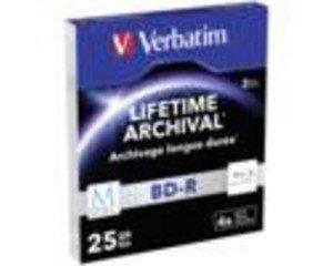 1X3 Verbatim M-Disc Bd-R Blu-Ray 25Gb 6X Speed, Slim Case