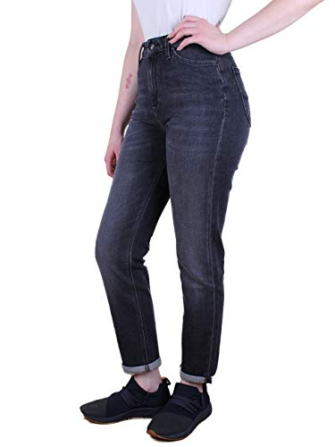 Lee Loose Fit Jeans (Lee Damen Jeans Mom - Straight Relaxed Fit - Schwarz - Black Raw, Größe:W 29 L 31, Farbe:Black RAW (RGUX))