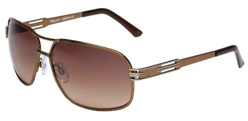 Klassische Marken Sonnenbrille für Herren von Burgmeister mit 100% UV Schutz | Sonnenbrille mit stabiler Metallfassung, hochwertigem Brillenetui, Brillenbeutel und 2 Jahren Garantie | SBM103-142