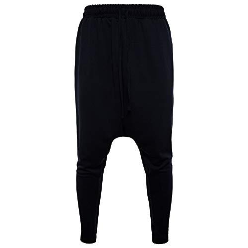 Celucke Herren Karottenhose mit Elastischer Taille,Männer Freizeithosen Mode Elastische Baumwolle Bequem Fit