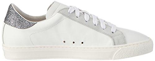 Stokton Damen 352-d Sneaker Weiß (Bianco+  Nero)