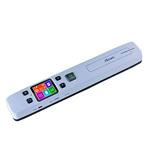 Mini tragbarer Dokumenten- und Bildscanner A4 Format JPG/PDF Formate WiFi 1050DPI Tragbares Hochgeschwindigkeits-LCD-Display für Geschäftsbelege,A -