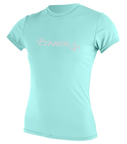 O 'Neill Neoprenanzug Damen Basic Skins UPF 50+ Short Sleeve Sun Shirt, Damen, 3547-253-M, Seaglass, M -
