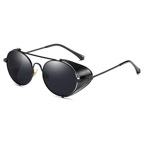 MEIHAOWEI Runde Steampunk Goggle Sonnenbrille Männer Frauen Retro Sonnenbrille Vintage Eyewear C1