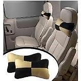 #10: Delhitraderss -Designer Car Seat Neck Cushion Pillow Black & Beige for - Hyundai I10 Grand