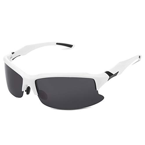 EUCoo Radfahren Brille Polarisierte Sonnenbrillen Outdoor Sports Angeln Brillen Reitbrillen (Weiß)