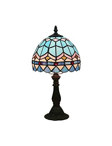 KCoob Kleine Tischlampe Blau Stehlampe für Schlafzimmer -