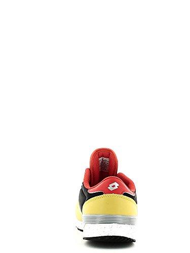 Lotto Record Viii Jr L, Chaussures de Sport Mixte Bébé Vert / rouge (vert / rouge)