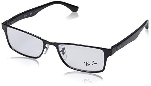 Rayban Unisex-Erwachsene Brillengestell RX6238, Schwarz (Negro), 53