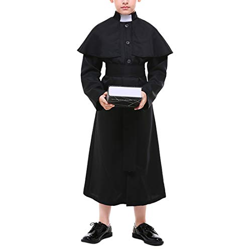 Jungen Kostüm Priester - Zhhlaixing 100% Polyester Kinder Jungen Priester Kostüm Robe mit Gürtel - Cosplay Even Party