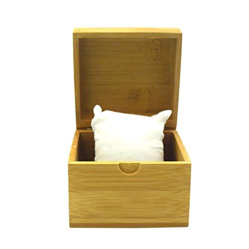 ibasenice 1 stück uhrenbox langlebig elegante bambus schmuckhalter geschenkbox taschenuhr fall armband veranstalter für shop zu hause