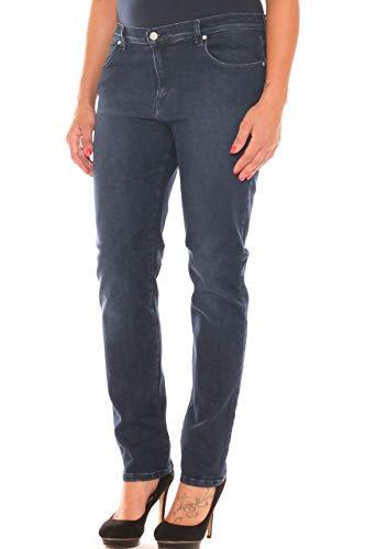 Jeans a Sigaretta Donna in Denim Stretch Taglia Morbida