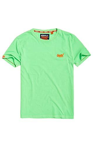 Herren Ice (Superdry Herren ORANGE Label NEON Tee T-Shirt, Grün (Ice Green 30E), X-Small)