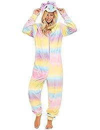 c5fc54b2cc Slumber Hut® Ladies Unicorn Onesie Fleece Rainbow Luxury Hooded Womens  Novelty All in One Pyjamas