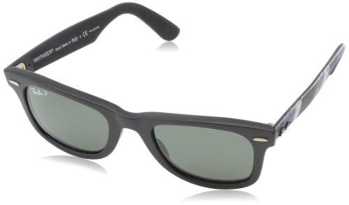 Ray Ban Unisex Sonnenbrille Wayfarer Original, Gr. Small (Herstellergröße: 50), Mehrfarbig (multi schwarz 606658)
