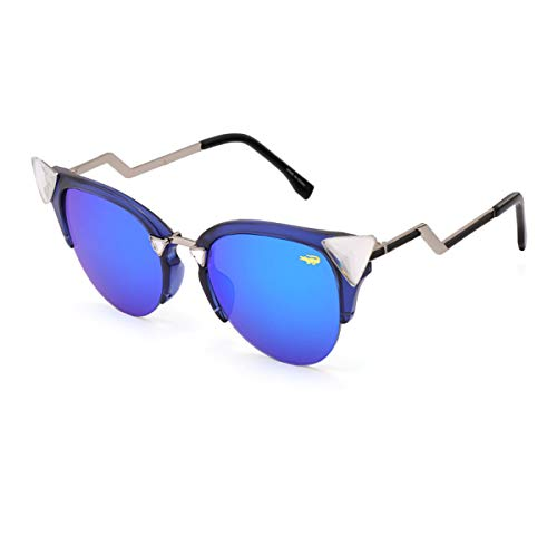 Sonnenbrillen New Fashion Cat Eye Sunglasses Women White Frame Gradient Sun Glasses Driving UV400 Fashion Eyewear Box 97006 Blue