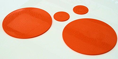 intech-gecko Orange 2+ 2Spülmaschinenfest Platzsets & Untersetzer Set Strukturierte Oberfläche. low-slip Boden.