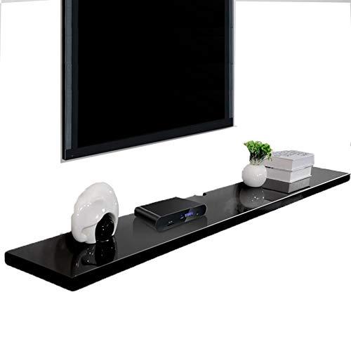 MEI XU Schwimmende Ledge Fixed Cuboid Design TV Hintergrund Wand Set-Top-Box Mehrzweck-Speichereinheit, 2 Farben, 4 Größen Regal (Color : A, Size : 120 * 24 * 2.5cm) (Weinregal Top)
