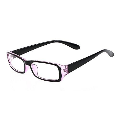 Milya Unisex Transparente Anti-UV-Anti-Müdigkeit Brille Blendschutz Brillen Sicherheitsbrille für Computer Telefon Tablets Schwarz Violett