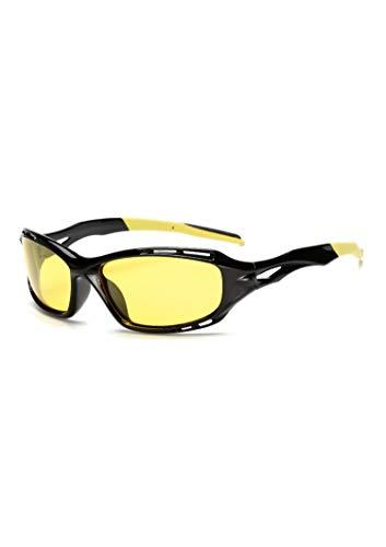 NauyGnol Gelbe Linse Nachtsicht Fahrbrille, polarisiert, reduziert Blendung Gr. Einheitsgröße, G04