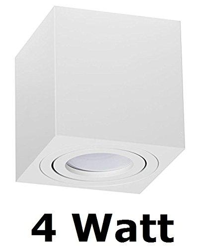 Hervorragend PALERMO Deckenlampe Deckenleuchte Strahler Mit 4W LED PanderLights TÜV SÜD  SMD Würfel Qube Downlight (Weiß WÜRFEL 4W)